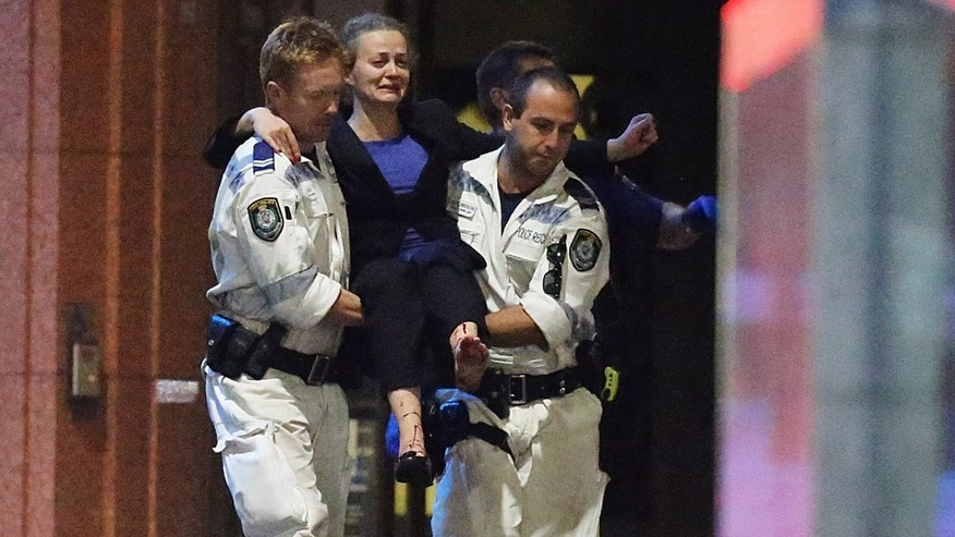 Marcia Mikhael carried out by police following a hostage standoff on December 16, 2014 in Sydney, Australia.