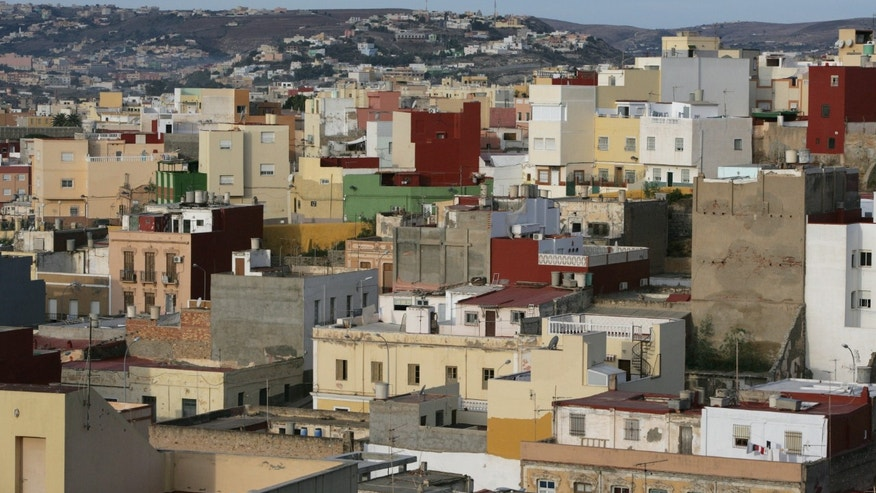 A general view of the city in the Spanish enclave of Melilla, Spain.