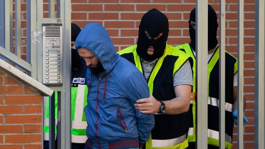 Back in June, Spanish policemen arrested a man suspected of belonging to a Jihadist recruiting network in Madrid.