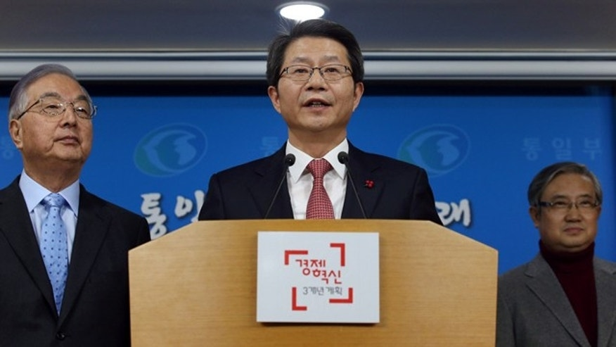 Dec. 29, 2014: South Korean Unification Minister Ryoo Kihl-jae speaks during a press conference at the government complex in Seoul.(AP Photo/Yonhap, Chun Soo-young)