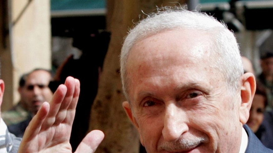 FILE - In this Monday Feb. 28, 2005 file photo, Lebanese Prime Minister Omar Karami arrives at the Parliament in Beirut, Lebanon. Lebanon's state-run National News agency said on Thursday, Jan. 1, 2015, former prime minister Omar Karami has died after suffering illness. He was 80. (AP Photo)