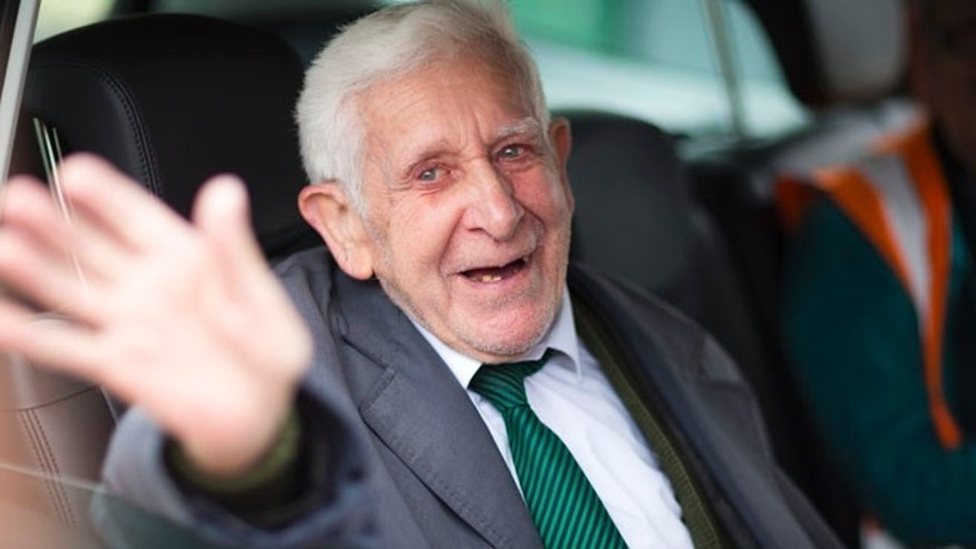June 7, 2014: This photo shows Bernard Jordan, the war veteran found in Normandy after being reported missing from his care home. (AP)