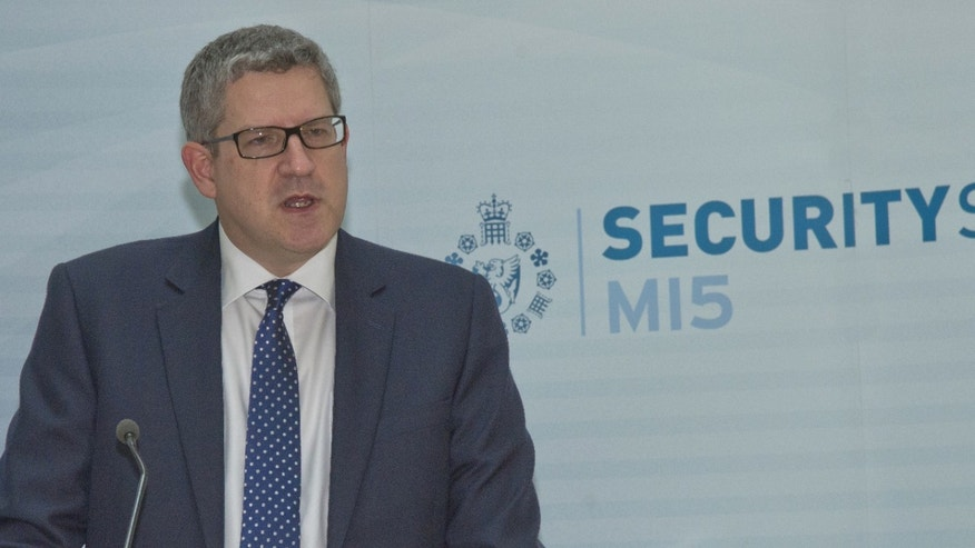 "Undated photo provided by MI5 of Andrew Parker, the Director General of Britain's domestic security service MI5. Parker said Thursday Al Qaeda militants are planning an attack on the West, aimed at inflicting mass causalities on transport systems or at ""iconic targets."""