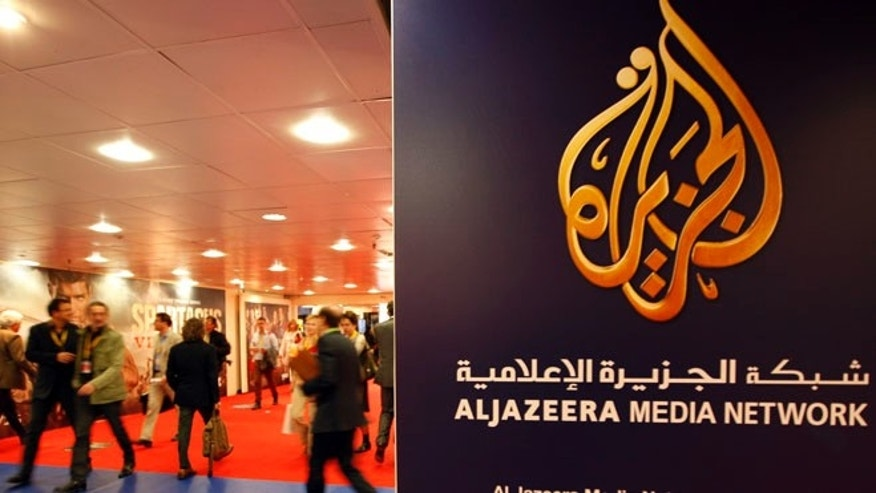 Apr. 2, 2012: The logo of  Al Jazeera Media Network is seen at the MIPTV, the International Television Programs Market, event. (Reuters)
