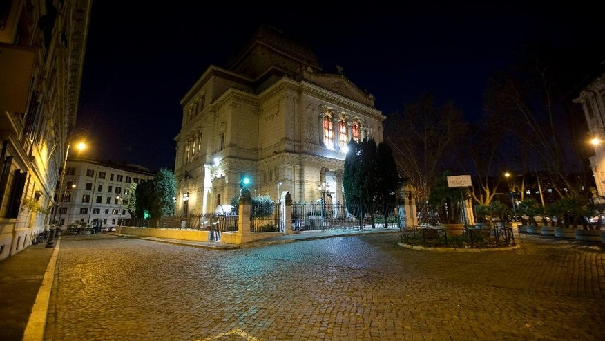 This Friday Jan. 9, 2015 photo shows Rome's Synagogue. The killing of four French Jews in last week's hostage standoff at a Paris kosher market has deepened the fears among European Jewish communities shaken by rising anti-Semitism and feeling vulnerable by poor security and a large number of potential soft targets. (AP Photo/Andrew Medichini)
