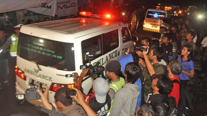 Jan. 18, 2015: Ambulances carrying the body of drug convicts Brazilian national Marco Archer Cardoso Moreira, left, and Dutch national Ang Kiem Soe leave upon arrival from Nusakambangan island where their executions were held, at Wijayapura port in Cilacap, Central Java, Indonesia