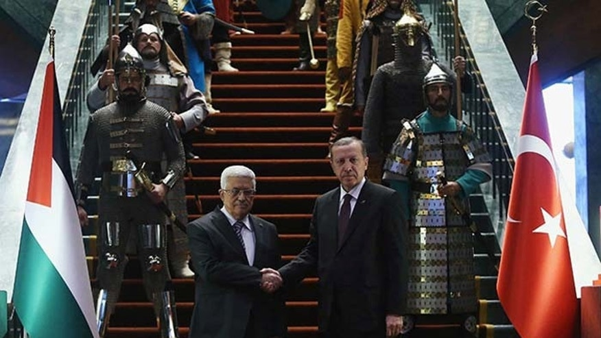 Monday's spectacle at Erdogan's new, 1,150-room palace raised eyebrows. (Reuters)