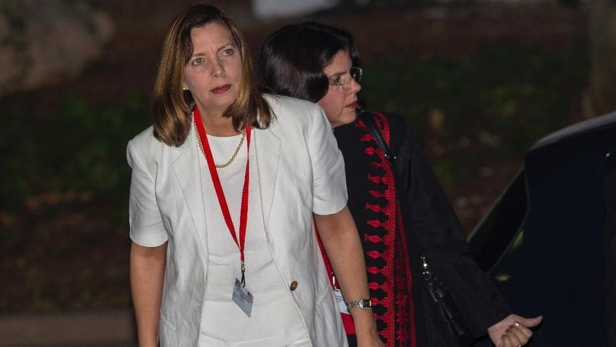 Ministry of Foreign Relations General Director for the United States, Josefina Vidal, arrives for a second day of talks with a U.S. delegates, in Havana, Cuba, Thursday, Jan. 22, 2015. The two countries are trying to eliminate obstacles to normalized ties as the highest-level U.S. delegation to the communist island in more than three decades holds a second day of talks with Cuban officials. Cuba is demanding its removal from a U.S. list of state sponsors of terrorism, which Washington says it is considering. (AP Photo/Ramon Espinosa)