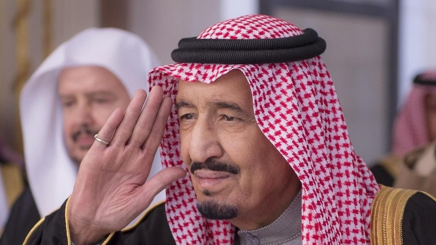 FILE- In this Jan. 6, 2015, file image released by the Saudi Press Agency, Crown Prince Salman gestures during a session at the Shura Council. On early Friday, Jan. 23, 2015, Saudi state TV reported King Abdullah died at the age of 90. Saudi Arabia's new king, Salman, is a veteran of the country's top leadership. (AP Photo/Saudi Press Agency, File)