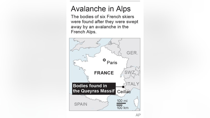 Map locates Queyras Massif in the French Alps; 1c x 3 inches; 46.5 mm x 76 mm;