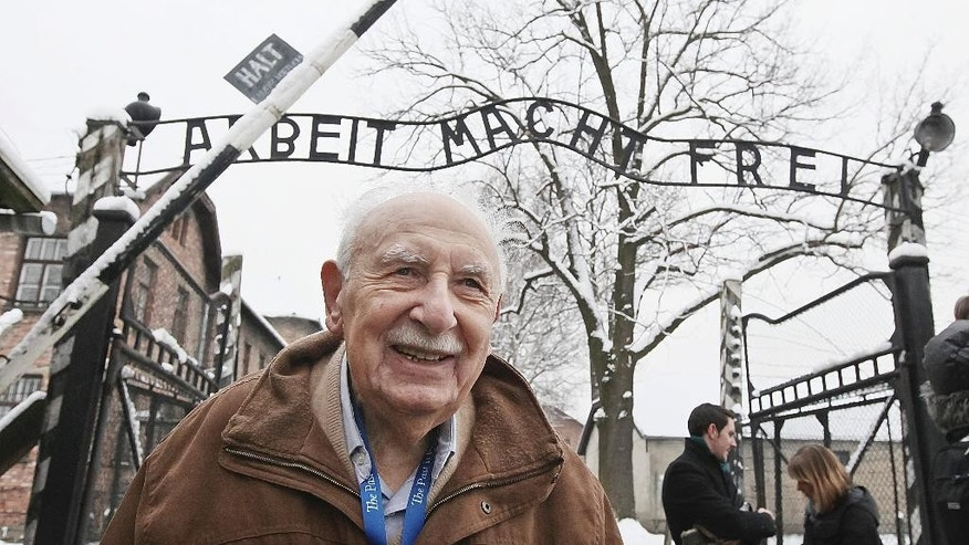 Jan. 26, 2014 - Marcel Tuchman, 93, a survivor of Auschwitz and still a practicing physician, visits the former death camp in Oswiecim, Poland. Tuchman was among dozens of survivors to visit the site a day before major ceremonies marking the 70th anniversary of the camp's liberation by the Soviet Red Army.