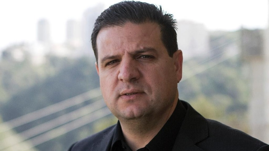 Ayman Odeh, 40, a first-time parliamentary candidate and the leader of the combined Arab list, from the communist Hadash party, poses in his house in the mixed Jewish-Arab city of Haifa, Israel, Monday, Jan. 26, 2015. Coping with new election laws that make it harder for smaller parties to enter Israel's parliament, the country's Arab political parties for the first time are banding together under one ticket to boost their chances in upcoming national elections. Arab politicians say it will improve chronically low Arab voter turnout and help block Netanyahu from forming the next government. (AP Photo/Dan Balilty))