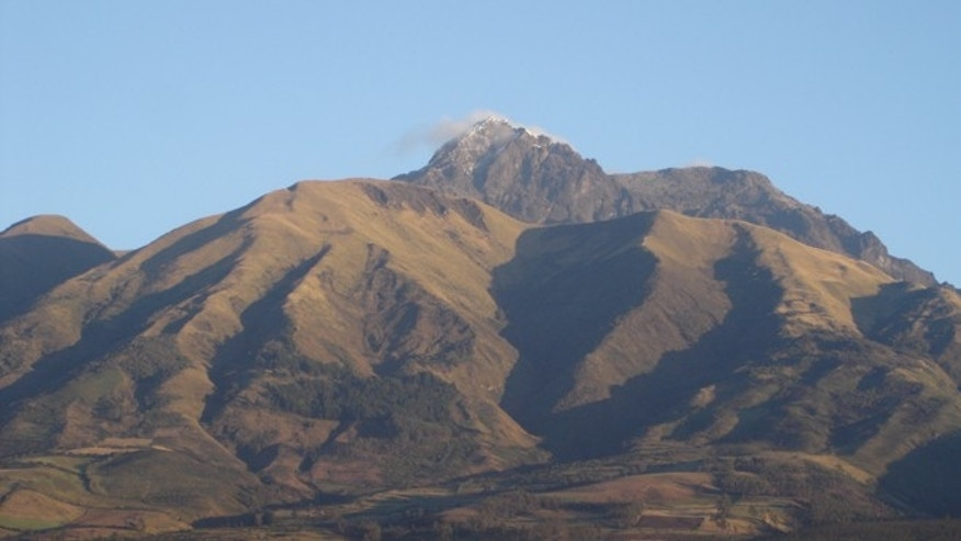 The Cotacachi Volcano as seen from the city of Cotacachi.
