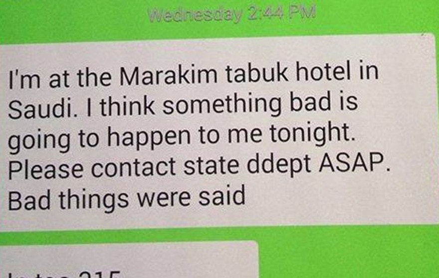 Cramer sent pleas for help to friends back in the United States just 30 minutes before his body was found outside of the Makarim Tabuk Hotel.