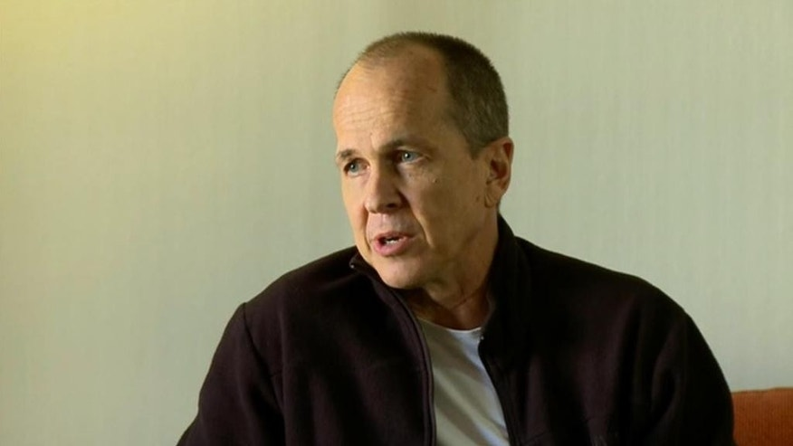 "In this image made from video, Australian journalist Peter Greste speaks during an interview a day after his release from prison in Egypt, in Larnaca, Cyprus, Monday, Feb. 2, 2015. Greste said Monday that his freedom was something of a ""rebirth"" and that key to his well-being while incarcerated for more than a year was exercising, studying and meditating. (AP Photo/Al Jazeera) MANDATORY CREDIT"