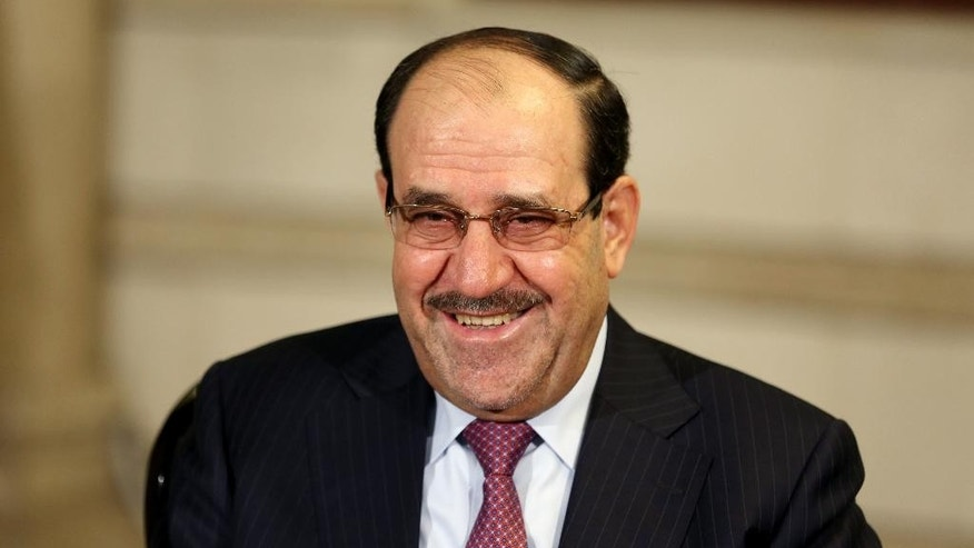 Feb. 2, 2015: Iraq's Vice President and former Prime Minister Nouri al-Maliki, smiles during an interview with The Associated Press in Baghdad, Iraq. (AP)