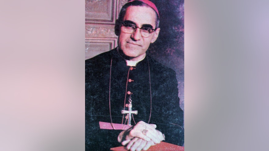 FILE - In this an undated file photo of Archbishop Oscar shows Archbishop Oscar Arnulfo Romero who was gunned down while giving Mass in a San Salvador church March 24, 1980. Pope Francis decreed Tuesday, Feb. 3, 2015, that the slain Salvadoran Archbishop was killed in 1980 out of hatred for his Catholic faith, approving a martyrdom declaration that sets the stage for his beatification.(AP Photo,File)