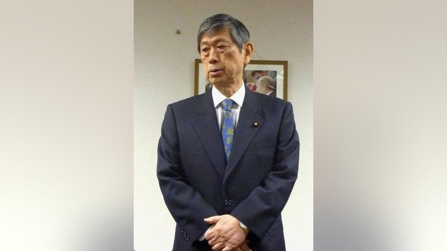 "In this Wednesday, Feb. 4, 2015 photo, Masahiko Komura, vice president of the ruling Liberal Democratic Party, speaks at the party's headquarters in Tokyo. Komura said Wednesday that Japanese journalist Kenji Goto ignored the government's repeated warnings against his trip to Syria. ""I must say that was reckless courage, not true courage, no matter how high his aspirations might have been,"" he told reporters, reminding his peers not to cause trouble by following his paths. Behind the sympathy Japanese are voicing over their two countrymen, Goto and Haruna Yukawa, purportedly slain by the Islamic State group is a widespread view that they were ""troublemakers."" (AP Photo/Kyodo News) JAPAN OUT, MANDATORY CREDIT"