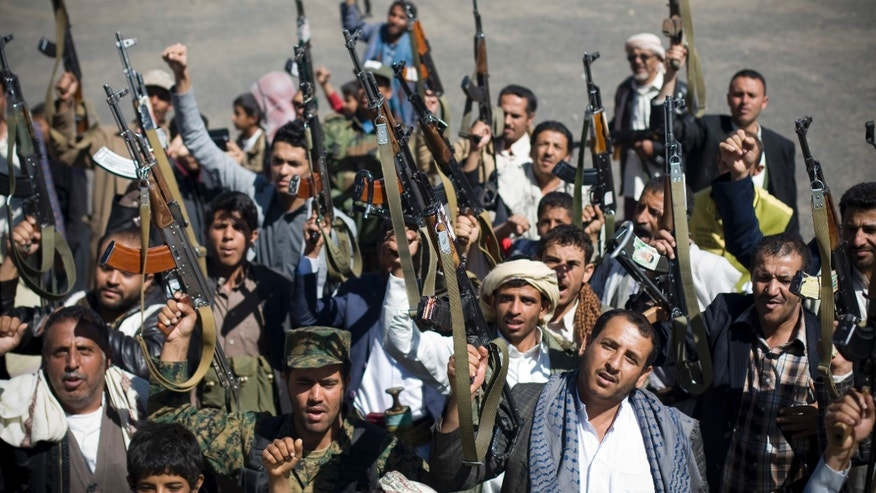 Feb 4, 2015 - Houthi Shiite Yemenis during a rally to show support for their comrades in Sanaa, Yemen.