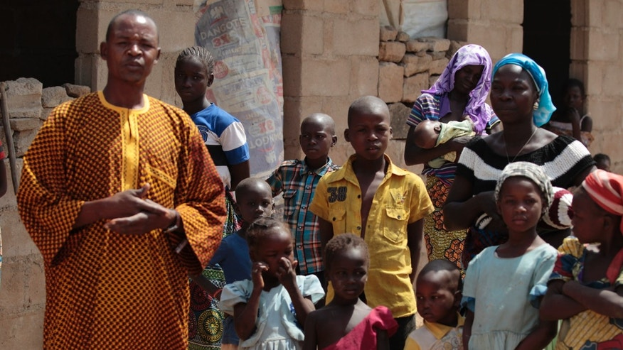 January 31, 2015 - A family that escaped Boko Haram attacks in both Michika and Cameroon, seek shelter in Adamawa. Suspected Boko Haram fighters attacked 3 communities in northern Cameroon, abducting more than 30 people including those aboard a packed bus, residents said Monday.
