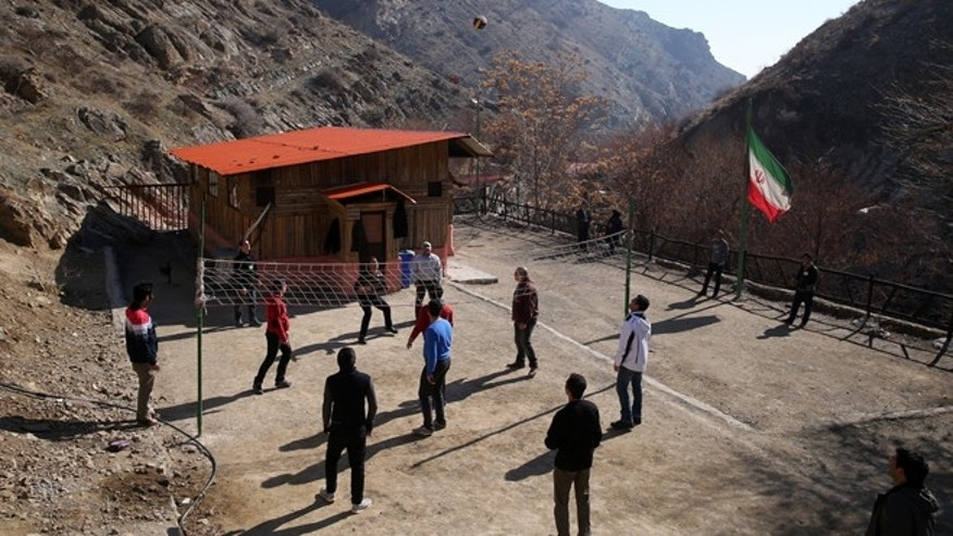 Feb. 2, 2015: Drug addicts play volleyball at a treatment camp in Verdij, some 15 miles northwest of the capital Tehran, Iran. Anti-narcotics and medical officials say more than 2.2 million of Iran's 80 million citizens already are addicted to illegal drugs, including 1.3 million on registered treatment programs.