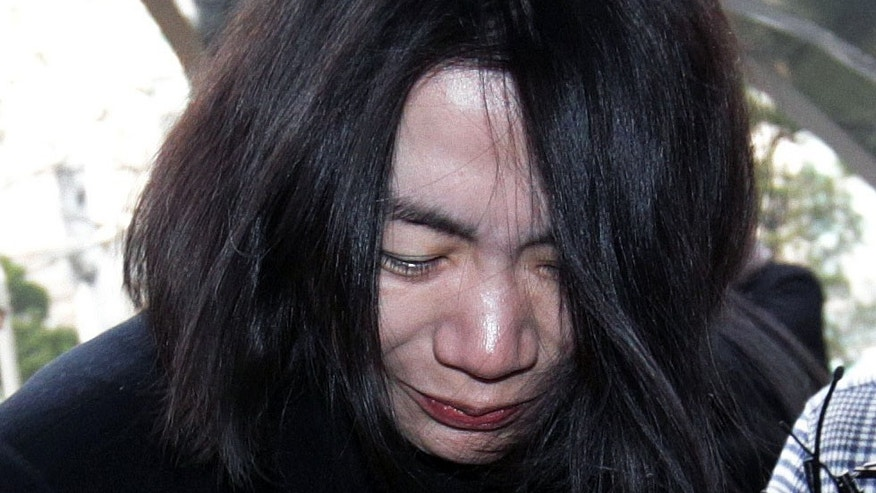 FILE - In this Dec. 30, 2014, photo, Cho Hyun-ah, former vice president of Korean Air Lines, arrives at the Seoul Western District Prosecutors Office in Seoul, South Korea. A Seoul court on Thursday, Feb. 12, 2015, found Cho guilty of violating aviation safety law after a trial that stemmed from her tantrum over how she was served macadamia nuts on a flight. The court said Cho was guilty of forcing a flight to change its route, the most serious of the charges she faced. (AP Photo/Ahn Young-joon, File)