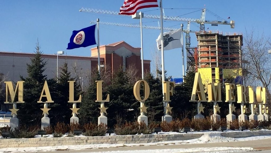 A Sunday, Feb. 22, 2015 photo shows the exterior of the Mall of America in Bloomington, Minn. A video released late Saturday, Feb. 21, 2015, purported to be by Somalia's al-Qaida-linked rebels, urges Muslims to attack shopping malls in North America, Britain and other Western countries, specifically mentioning the Mall of America in Minnesota, the West Edmonton Mall in Canada, and the Westfield Mall in Stratford, England. (AP Photo/Star Tribune, Jerry Holt)  MANDATORY CREDIT; ST. PAUL PIONEER PRESS OUT; MAGS OUT; TWIN CITIES LOCAL TELEVISION OUT