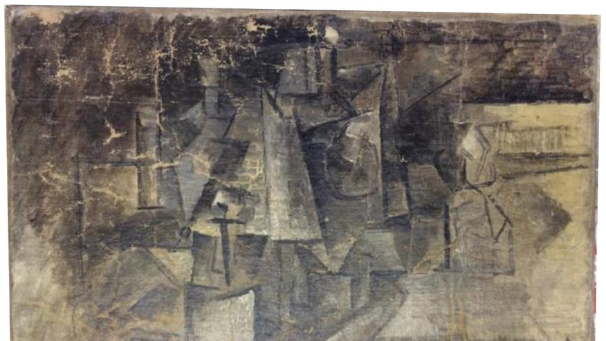 """Undated photo-- A cubist painting entitled """"The Hairdresser"""" by Pablo Picasso. Authorities say the painting-- worth millions of dollars-- was stolen in France and smuggled into the U.S. by someone who falsely labeled it as an """"art craft"""" worth about $37 when it was shipped."""