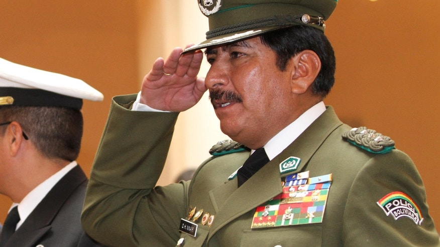 In March of 2015, the retired police general who reorganized Bolivia's counter-narcotics force after President Evo Morales expelled U.S. drug agents, is under investigation for illicit enrichment and drug trafficking ties. A judge was to decide Wednesday, March 4, 2015 whether Gen. Nina should be jailed.
