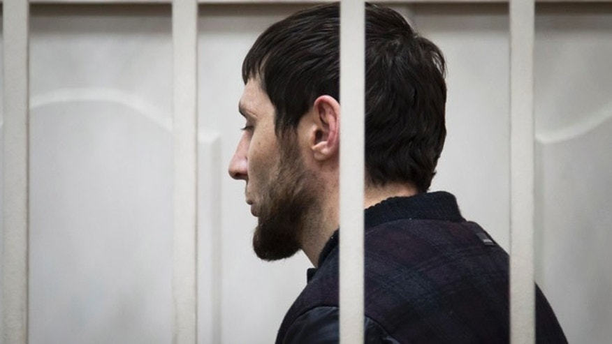 March 8, 2015: Zaur Dadaev, one of five suspects in the killing of Boris Nemtsov stands in a court room in Moscow, Russia. Russian news agencies said Sunday one of the suspects in the killing of leading opposition figure Boris Nemtsov has admitted involvement in the crime.