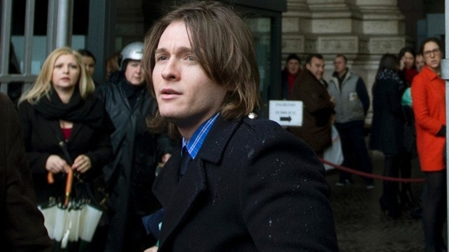 March 25, 2015: Raffaele Sollecito, the ex-boyfriend of Amanda Knox, arrives at Italy's highest court building, in Rome. Italy's high court took up the appeal of Amanda Knox's murder conviction Wednesday, considering the fate of the 'very worried' American and her Italian former boyfriend in the brutal 2007 murder of Knox's British roommate. (AP Photo/Alessandra Tarantino)