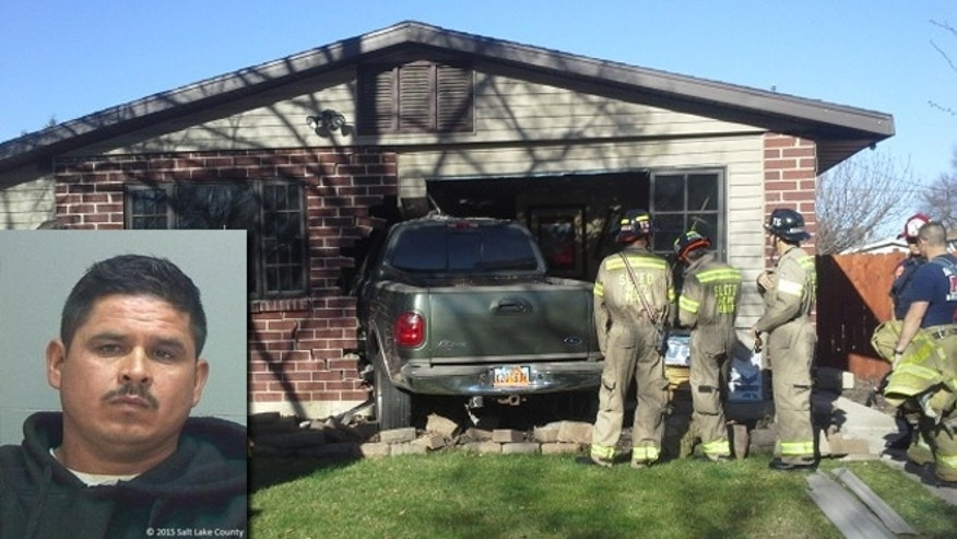 Bernabe Urcino-Saldago (39) arrested for DUI, negligent collision and no driver's license after crashing into Rose Park home. CREDIT: Fox 13 News