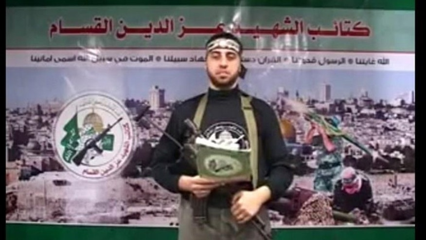 "Abdullah Murtaja appeared on the list of 17 ""journalists"" killed in the summer conflict between Hamas and Israel, even though in a video shot before his death he spoke of fighting Israel and becoming a martyr. (Screengrab)"
