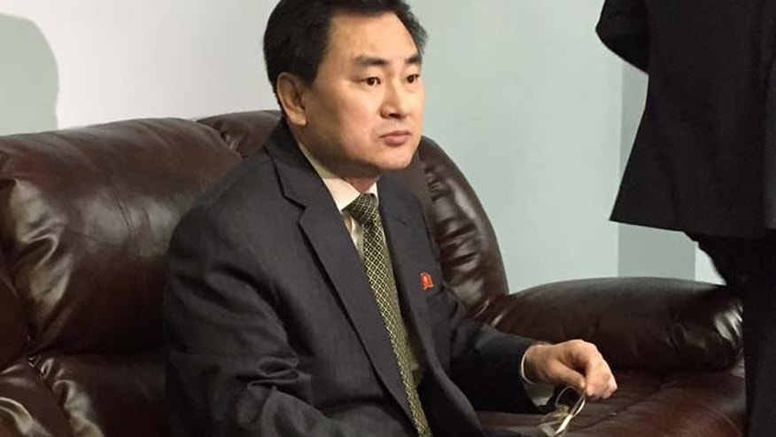 April 8, 2015: North Koreas deputy permanent representative to the United Nations, An Myong Hun, waits to speak to reporters at North Koreas U.N. mission in New York.