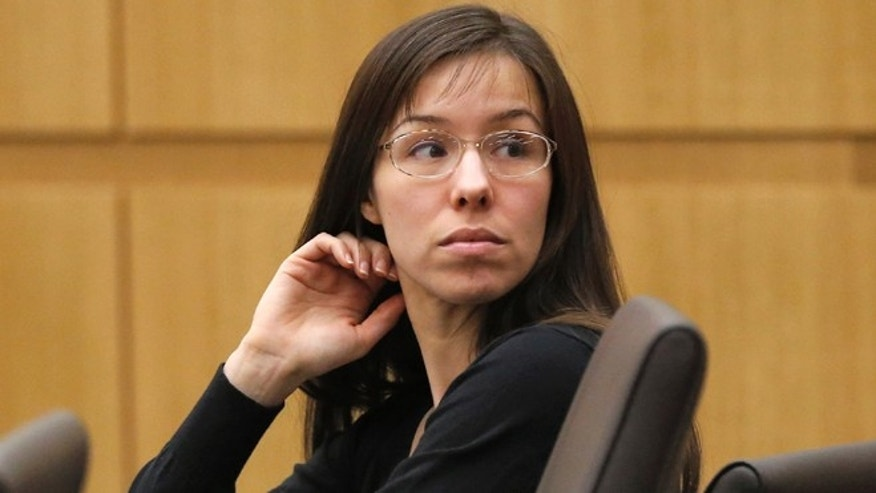 Jodi Arias appearing for her trial on Jan. 9, 2013.