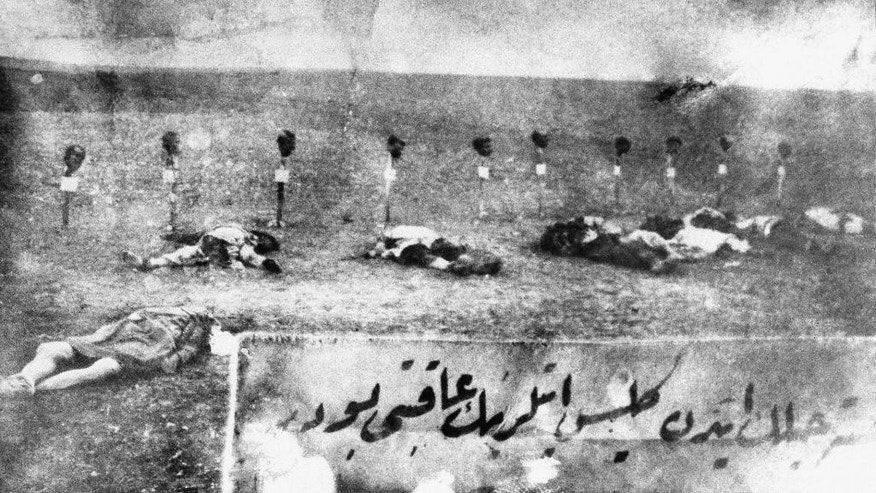 "FILE - This 1915 file photo, shows Armenian victims of the massacres in Turkey. The Nazi genocide of European Jews is widely commemorated in Israel and etched deeply into the psyche of a country founded in its aftermath. But when it comes to the mass killing of Armenians by Ottoman Turks during World War I, which historians have called the ""first genocide of the 20th century,"" Israel has largely stayed silent. Fearing repercussions from its former ally Turkey and wary of breaking ranks with American policy, Israel has refrained from calling the mass killings a genocide. (AP Photo, File)"