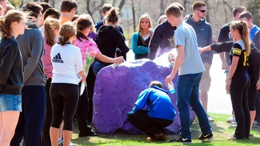 Students have held memorials and tributes to Maren Sanchez that emphasize the color purple, her favorite.