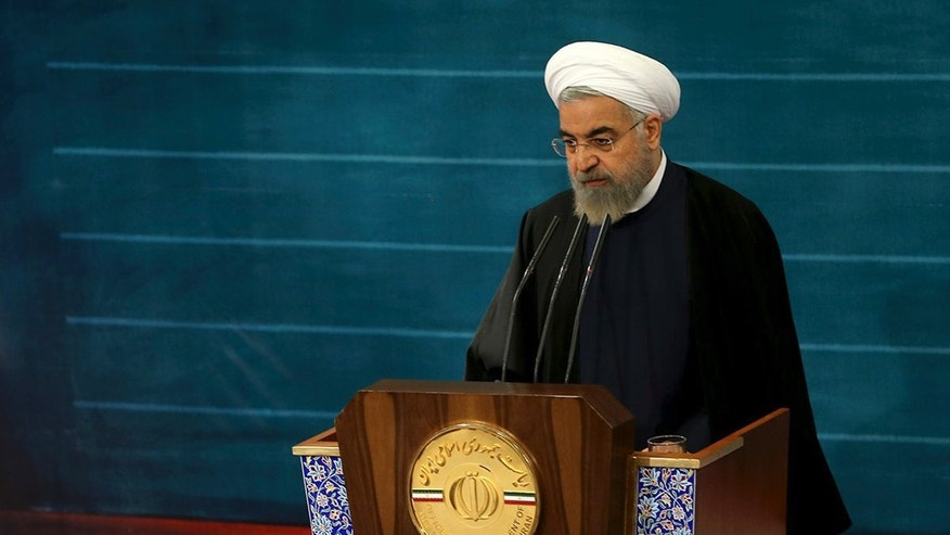 May 4, 2015- Iran's President Hassan Rouhani at the presidency compound in Tehran, Iran. Twice in recent days, Rouhani has made statements rejecting the idea of police officers enforcing morality rules, staking a clear position against hard-liners who largely oppose his outreach to the West.