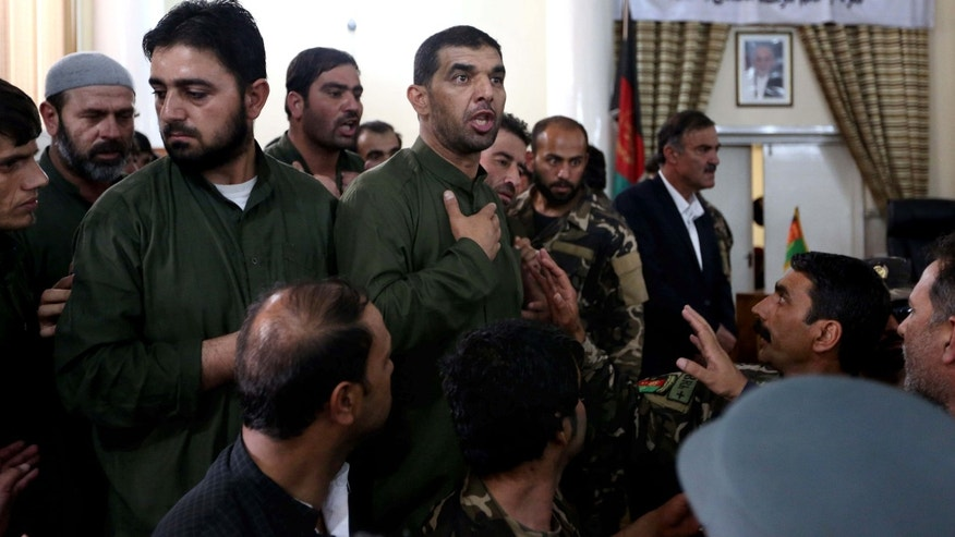 May 3, 2015: Defendants speak during his trial at the Primary Court in Kabul, Afghanistan.
