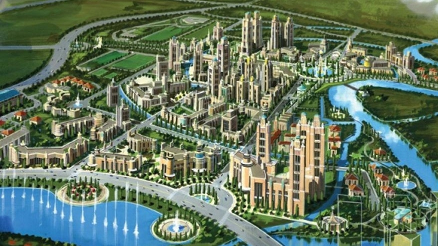 A rendering of a possible city to be built in Liberland. (Courtesy of Liberland)