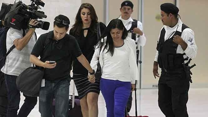 Dorotea Garcia arrives in Michoacan, Mexico Tuesday May 12, 2015. (EFE)