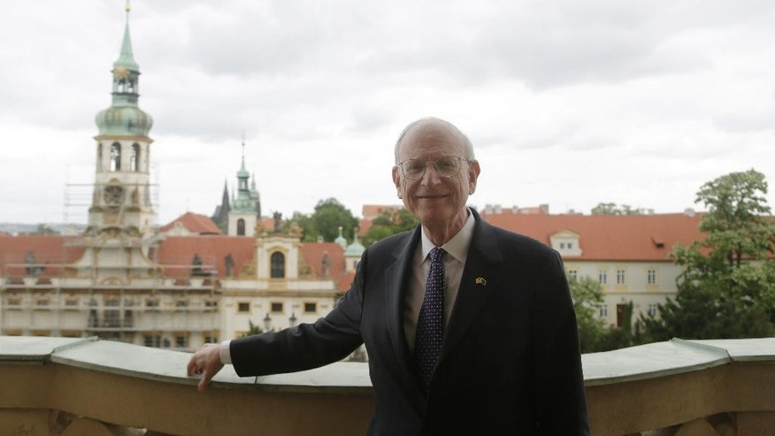 May 27, 2015: Stuart Eizenstat, special advisor to the US secretary of state on holocaust issues, poses for a photograph during an International Conference on Welfare for Holocaust Survivors in Prague, Czech Republic.