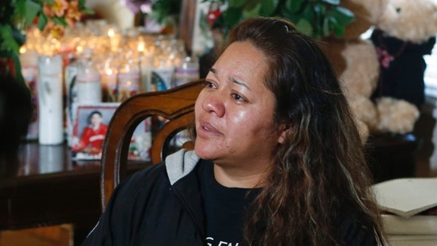 Laura Hernandez, mother of 17-year-old who was killed while driving a stolen vehicle.