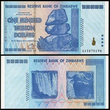 One US dollar = Z$35 Quadrillion as Zimbabwe phases out old currency