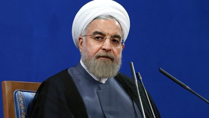 June 13, 2015: Iran's President Hassan Rouhani gives a press conference on the second anniversary of his election, in Tehran, Iran. (AP)