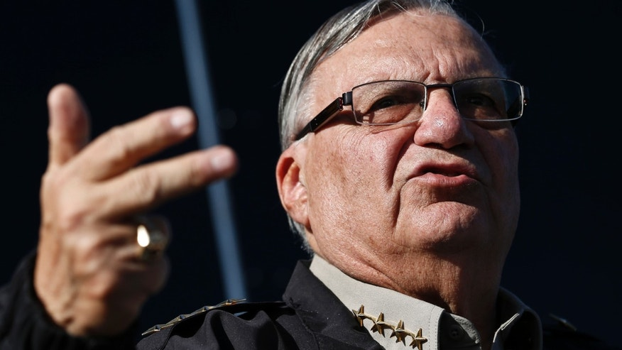 Maricopa County Sheriff Joe Arpaio in a Jan. 2013., file photo.
