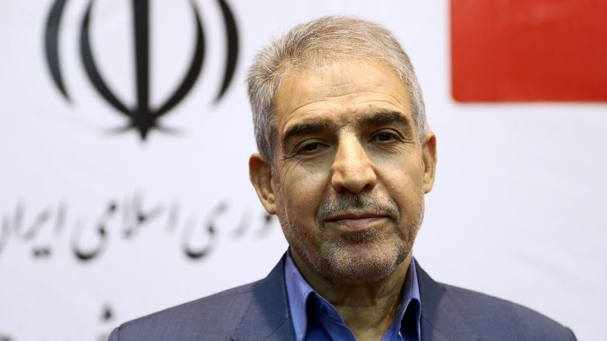 June 15, 2015 - Deputy Minister of Youth Affairs and Sports Mahmoud Golzari, at a ceremony launching the first official matchmaking site, in Tehran, Iran. Iran officials insisting it is not a dating service.