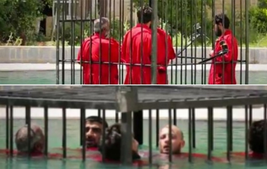 These victims were locked in a cage and submerged under water. (Screengrab courtesy of TRAC)
