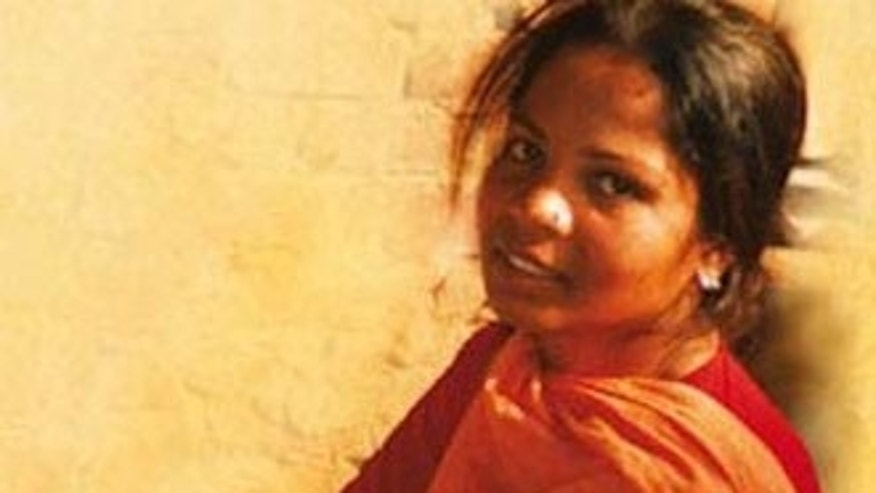Aasia Bibi before her 2010 death sentence for crimes of blasphemy.