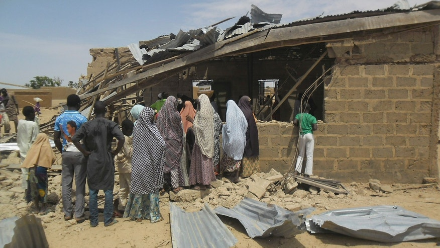 July 5, 2015 - The site of suicide bomb attack at Redeem Christian church in Potiskum, Nigeria. Witnesses say a woman suicide bomber blew up at a crowded evangelical church service Sunday, killing 6, the latest in bombings and shooting attacks blamed on the Islamic extremist group Boko Haram,